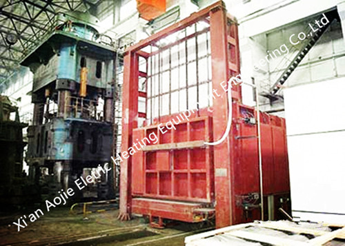 High Temperature Heating Car Bottom Furnace 3600×1400×1000mm Chamber Dimension