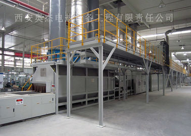 Customized Color Continuous Brazing Furnace , Industrial Furnace Brazing Aluminum