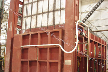 Large Capacity Car Bottom Furnace 3200x1800×1000mm For Mechanical Parts